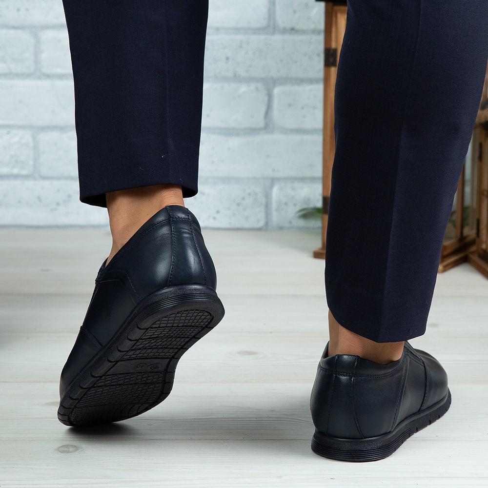 Imagine Pantofi casual bărbați piele naturală 542 Blue