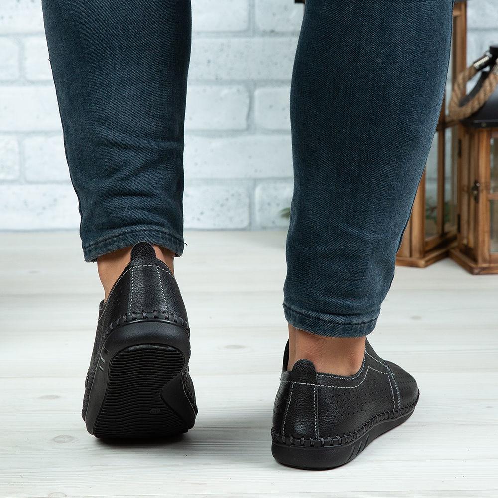 Imagine Pantofi casual bărbați piele naturală 650 P Negru