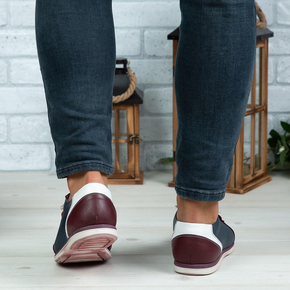 Imagine Pantofi sport bărbați piele naturală 430 Vișiniu