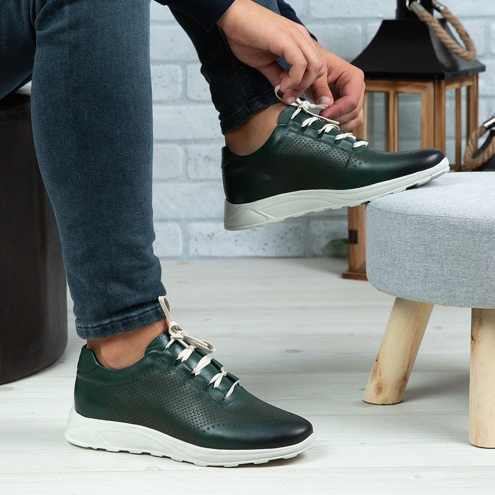 Imagine Pantofi sport bărbați piele naturală 447 S Verde TA