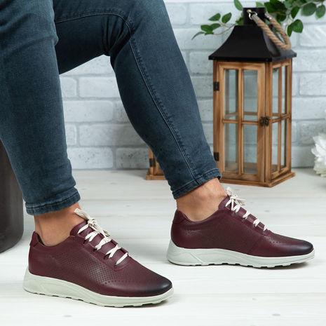 Imagine Pantofi sport bărbați piele naturală 447 S Vișiniu
