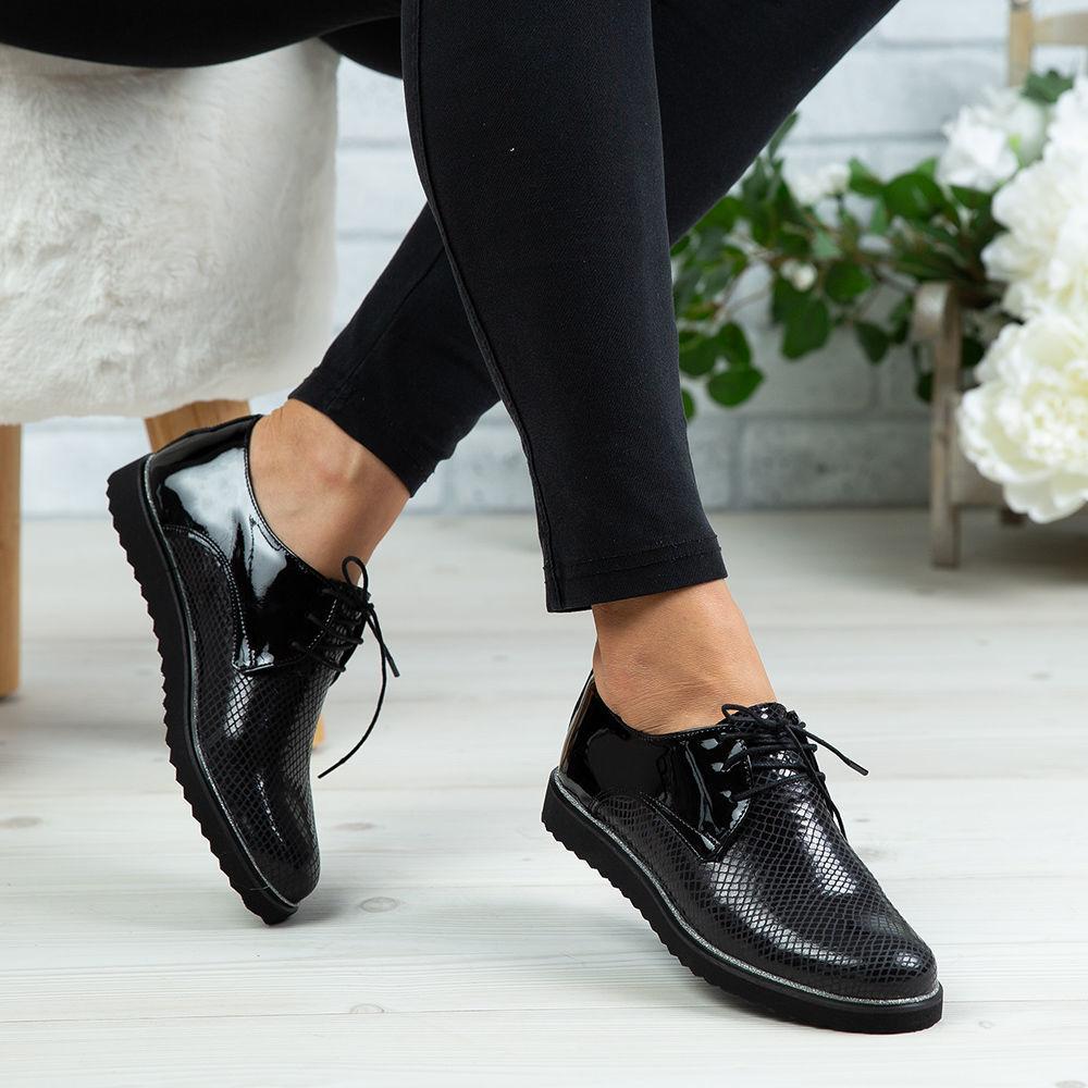 Imagine Pantofi damă piele naturală 136 Negru