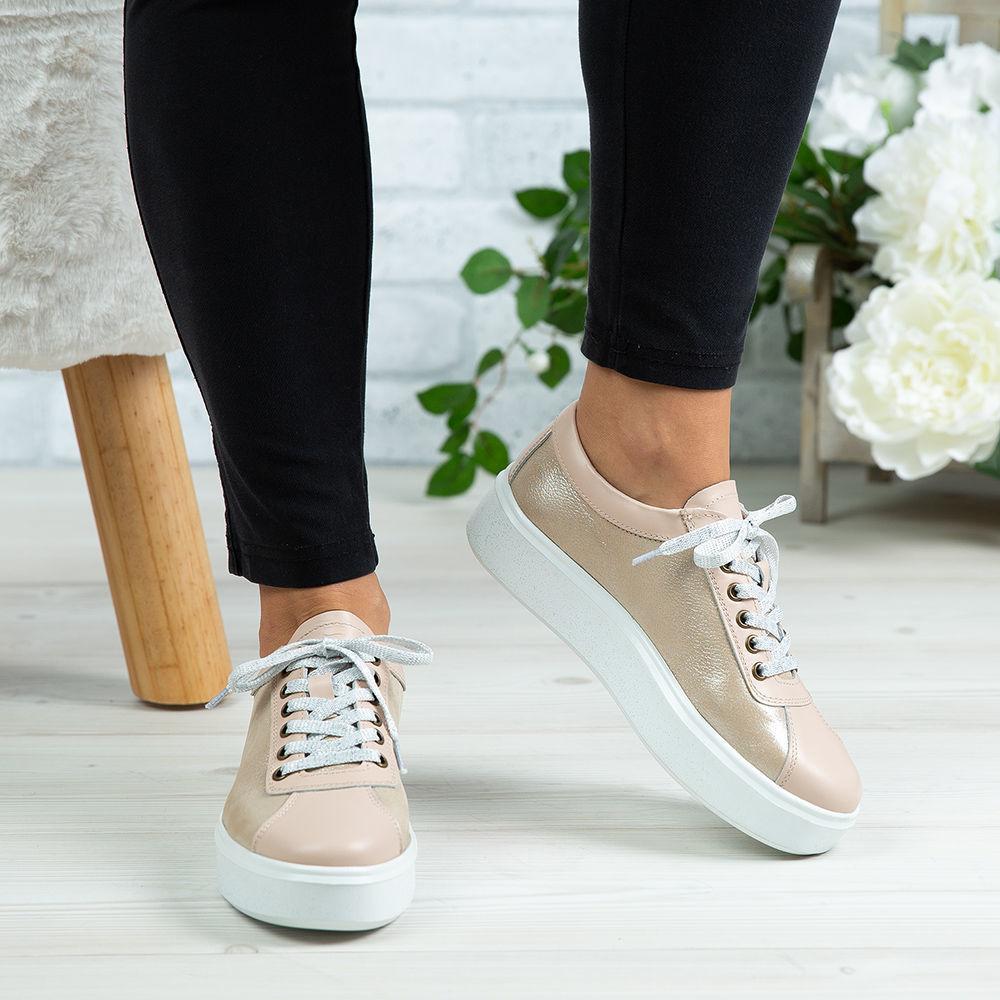 Imagine Pantofi damă piele naturală 137 Bej deschis