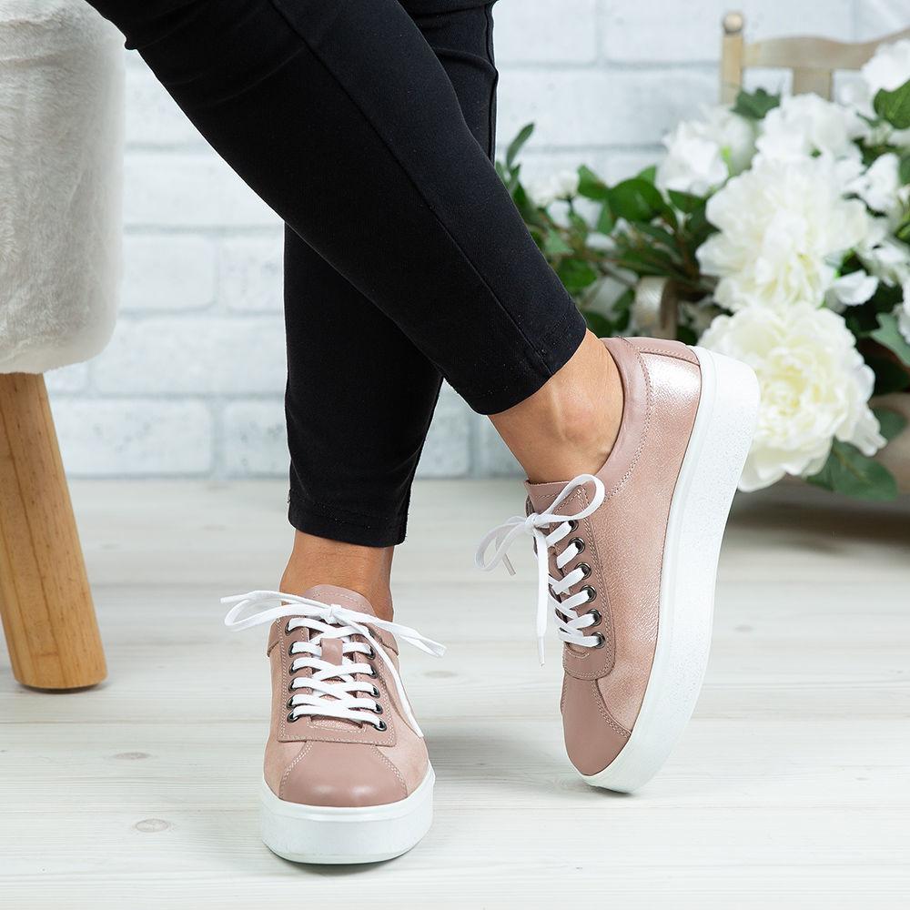Imagine Pantofi damă piele naturală 137 NUDE