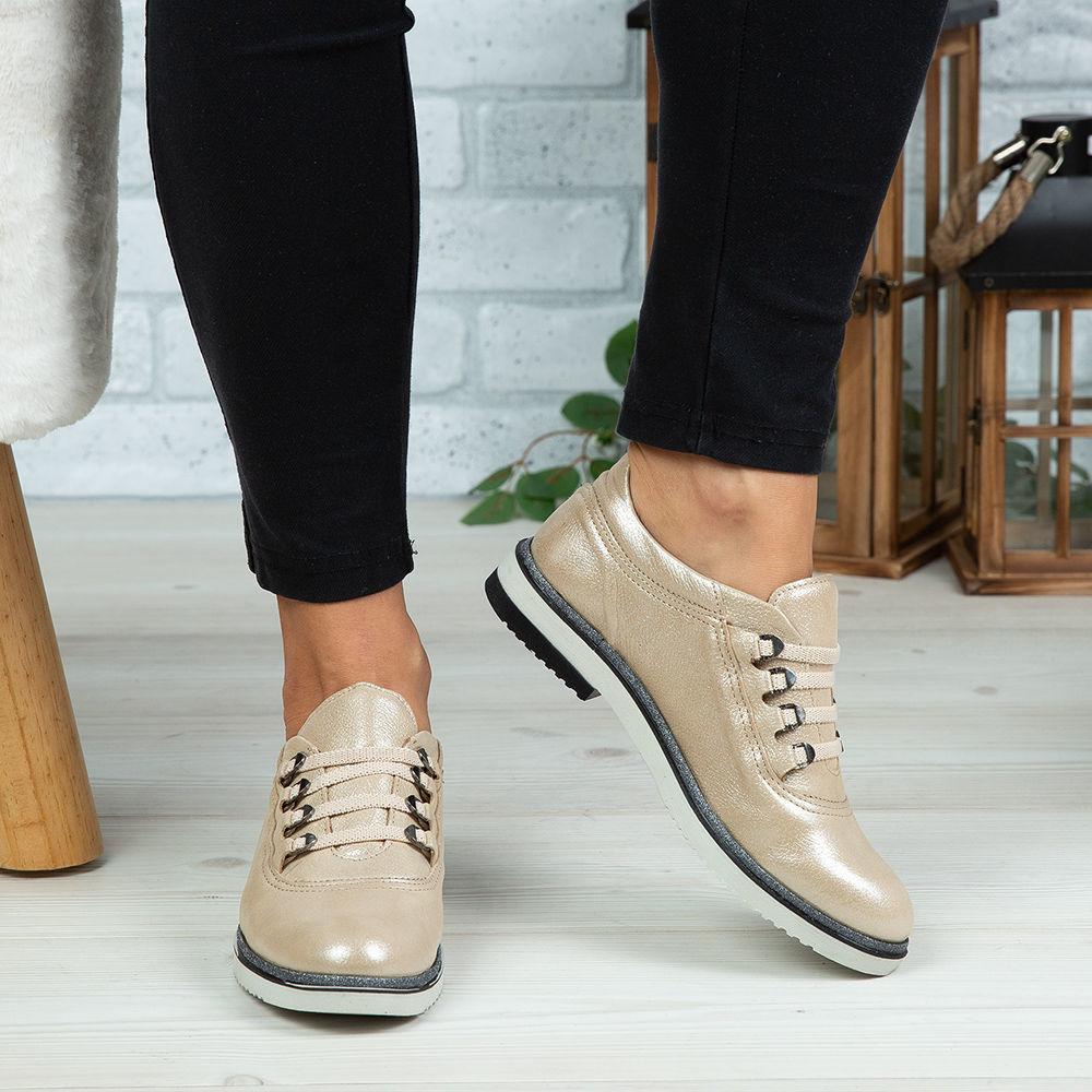 Imagine Pantofi damă piele naturală 138 Bej