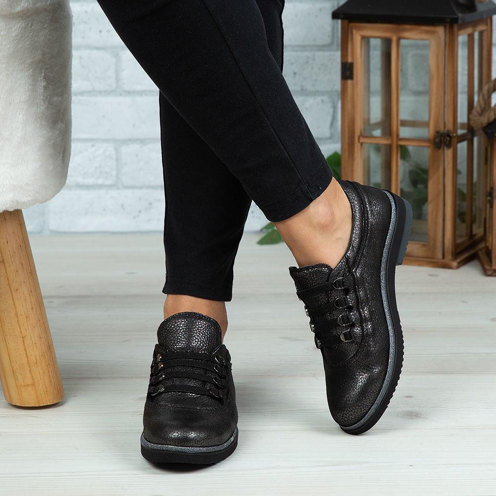 Imagine Pantofi damă piele naturală 138 Negru