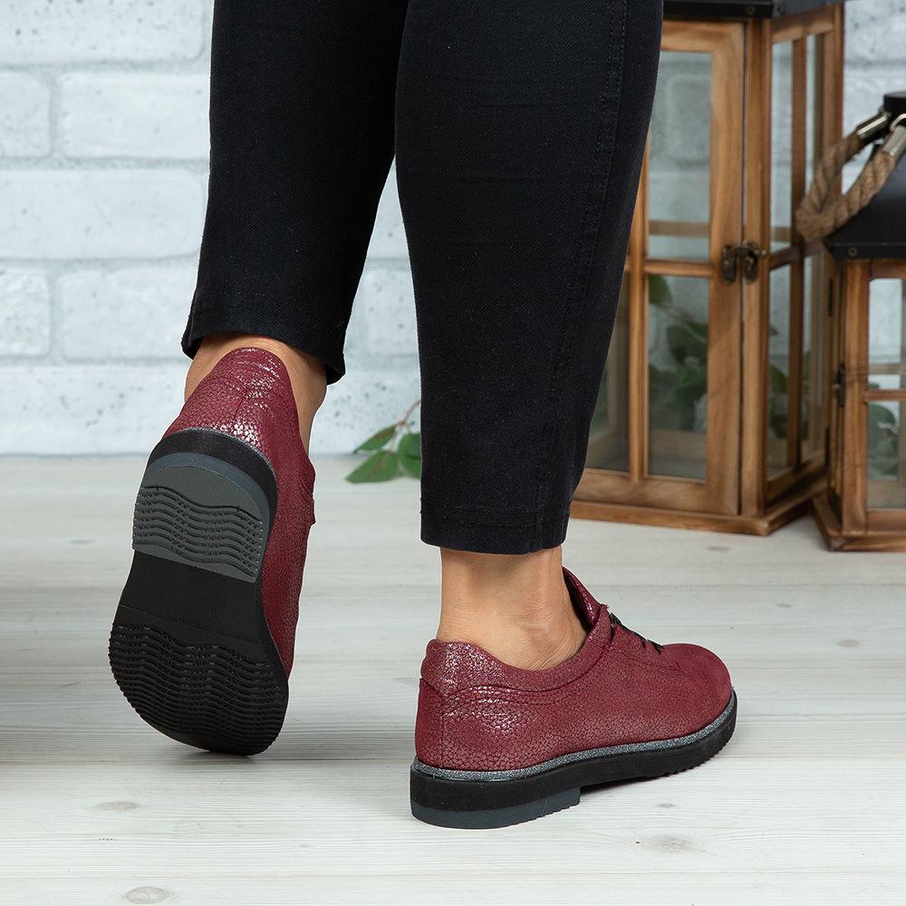 Imagine Pantofi damă piele naturală 138 Vișiniu