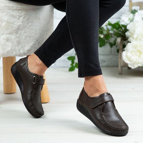Imagine Pantofi damă piele naturală 140 Maro