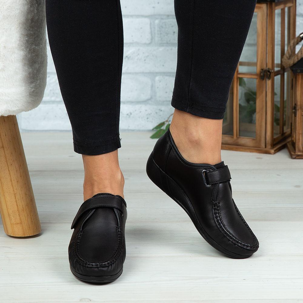 Imagine Pantofi damă piele naturală 140 Negru