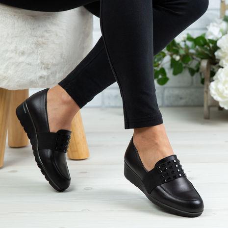 Imagine Pantofi damă piele naturală 151 Negru