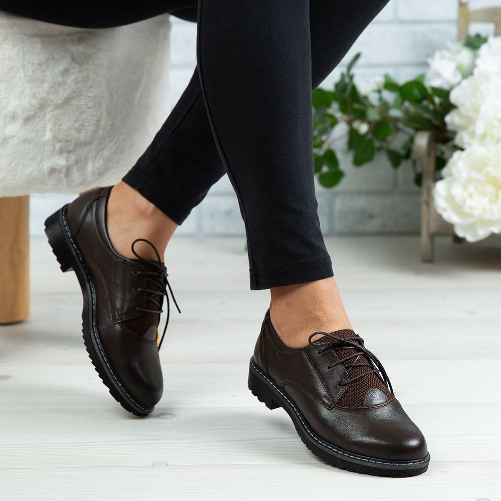 Imagine Pantofi damă piele naturală 153 Maro