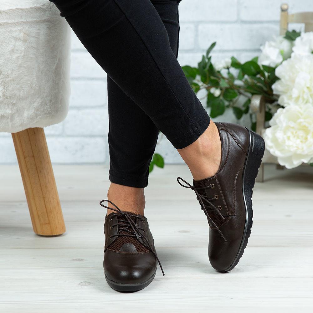 Imagine Pantofi damă piele naturală 154 Maro
