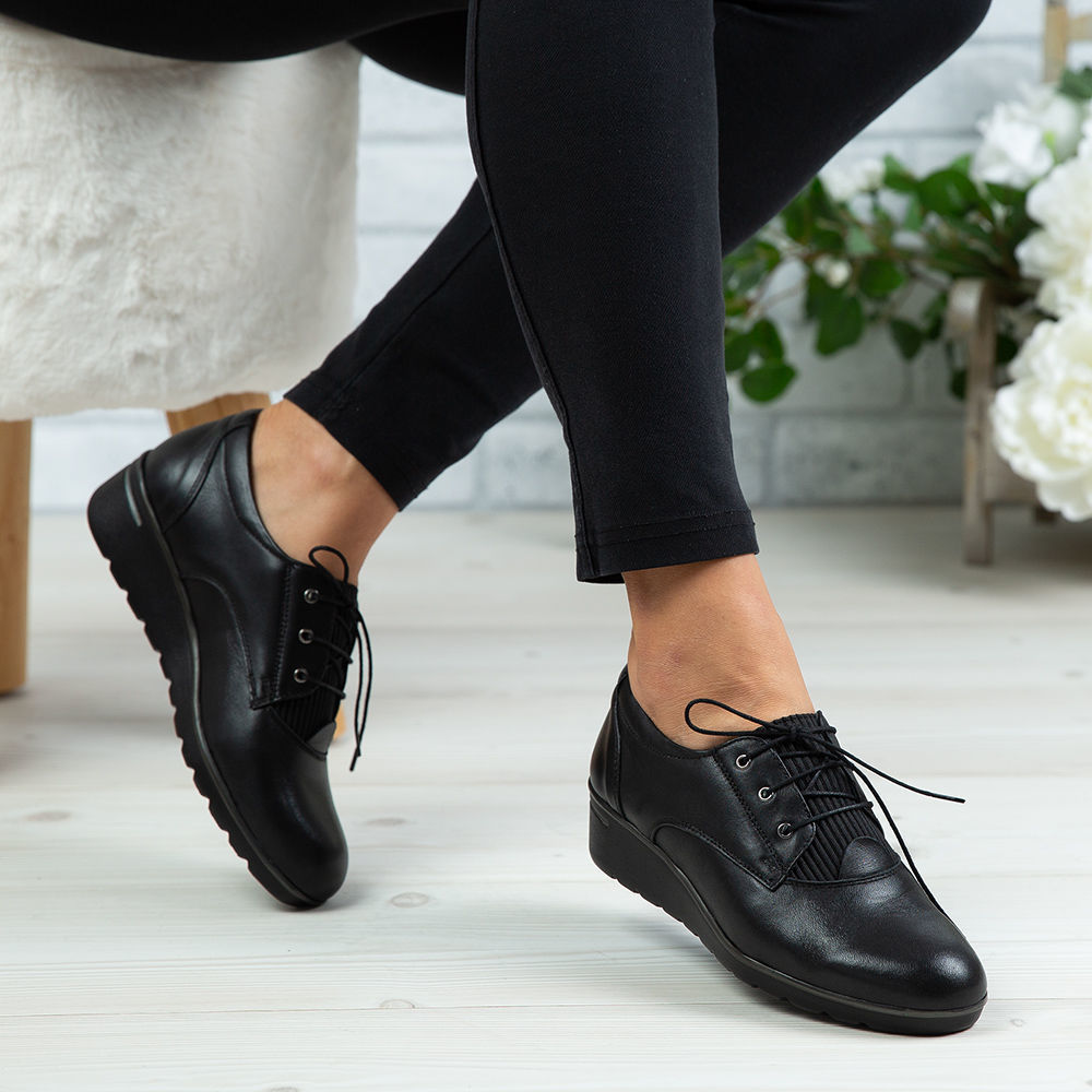 Imagine Pantofi damă piele naturală 154 Negru