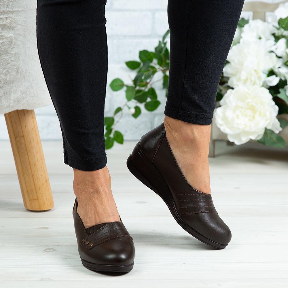Imagine Pantofi damă piele naturală 155 Maro