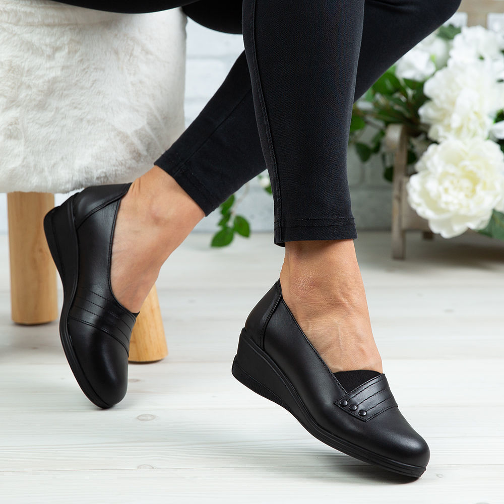 Imagine Pantofi damă piele naturală 155 Negru