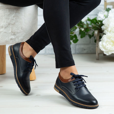 Imagine Pantofi copii piele naturală 400 Y Blue