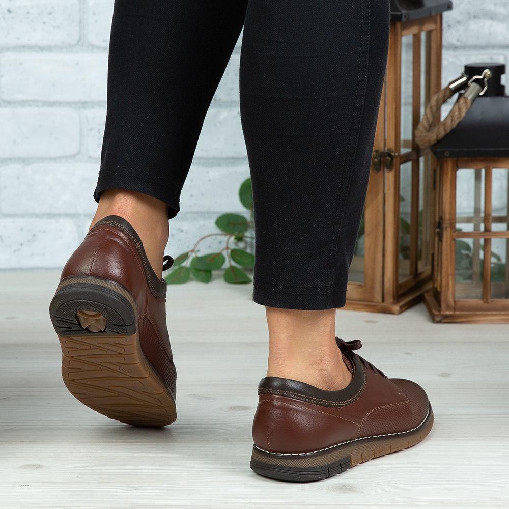 Imagine Pantofi copii piele naturală 400Y Maro