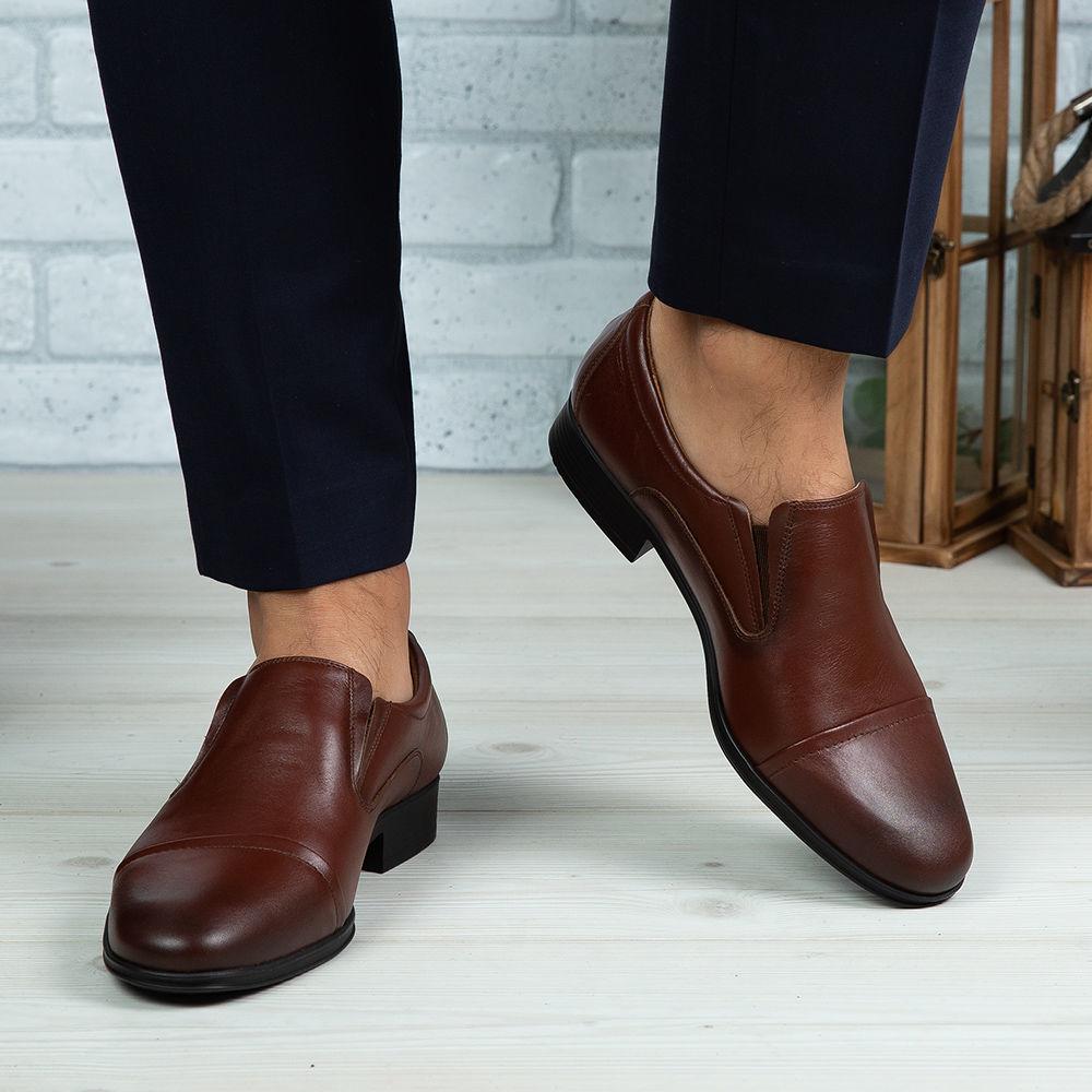 Imagine Pantofi eleganți bărbați din piele naturală 301 R2 MARO