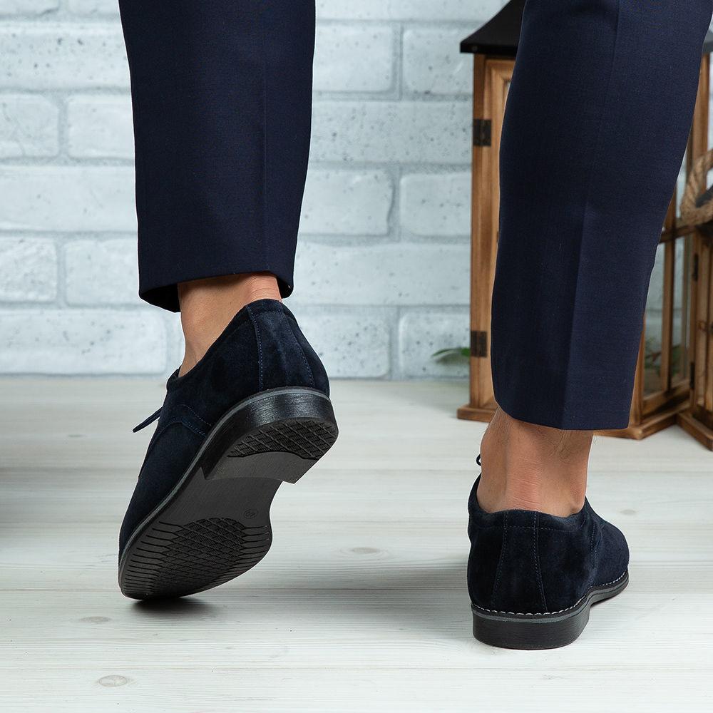 Imagine Pantofi eleganți bărbați din piele naturală 506 Blue VEL