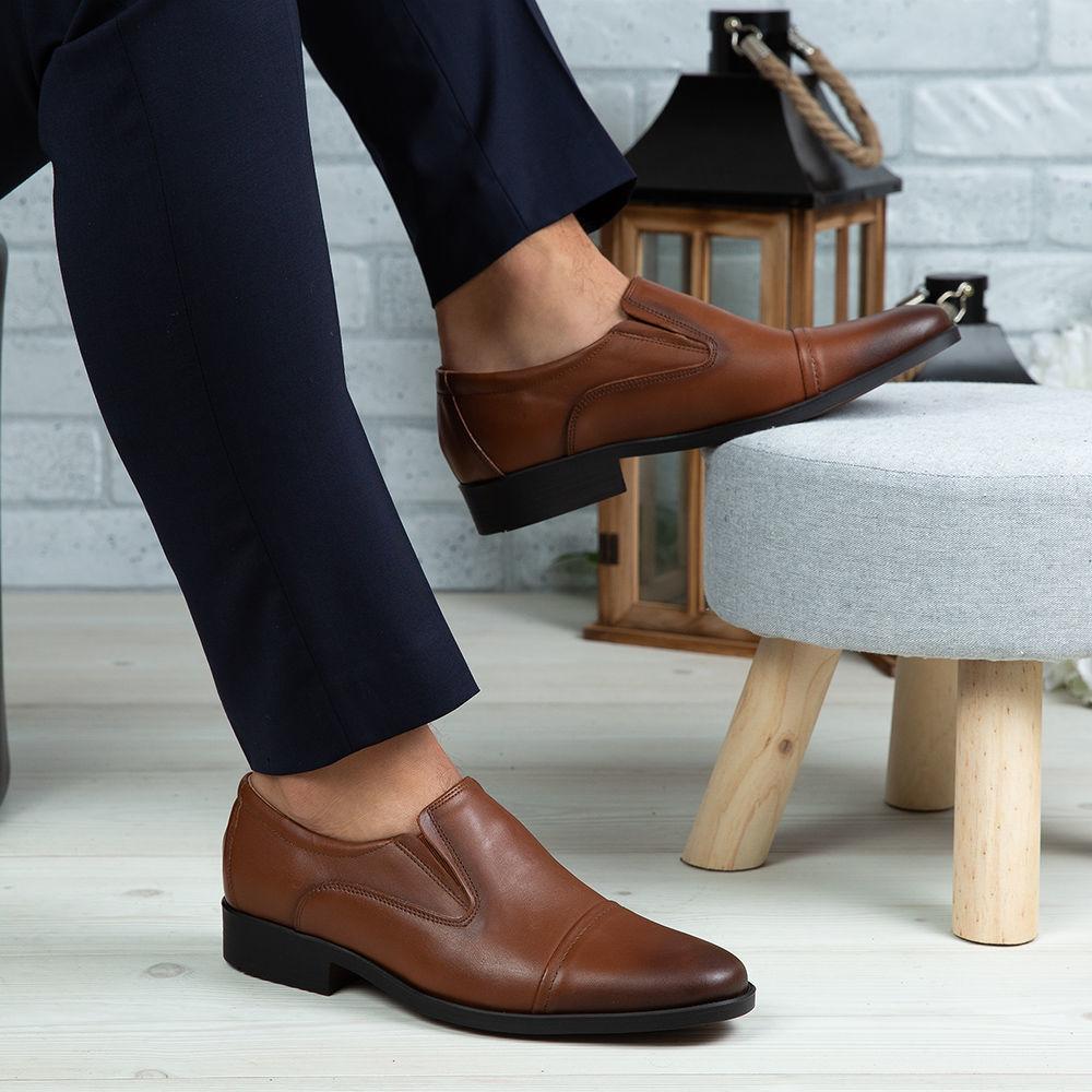 Imagine Pantofi eleganți bărbați din piele naturală 301 Maro