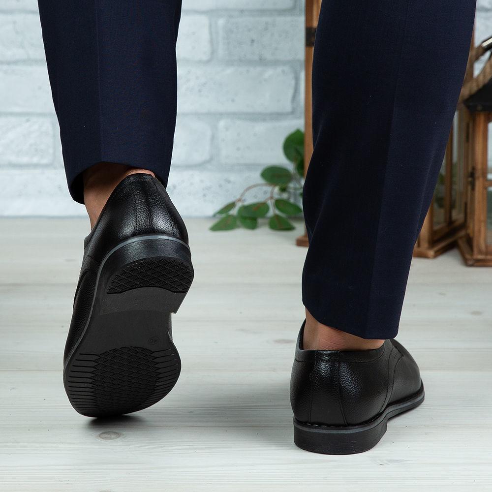 Imagine Pantofi eleganți bărbați din piele naturală O506 Negru Box
