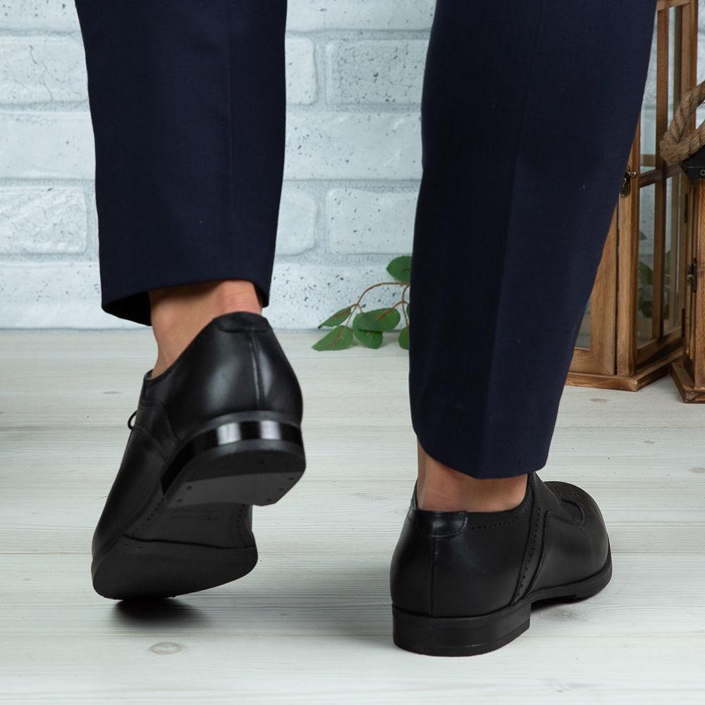 Imagine Pantofi eleganți bărbați din piele naturală 399 Negru