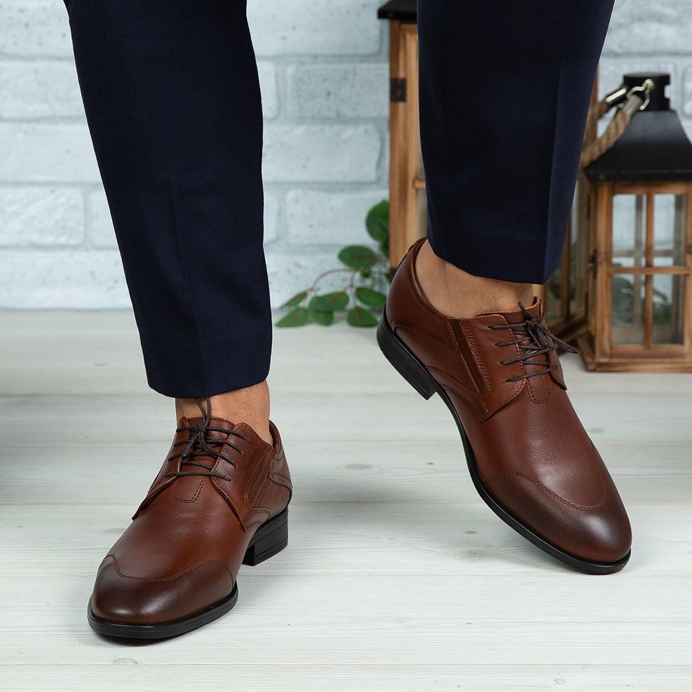 Imagine Pantofi eleganți bărbați din piele naturală 396 Maro