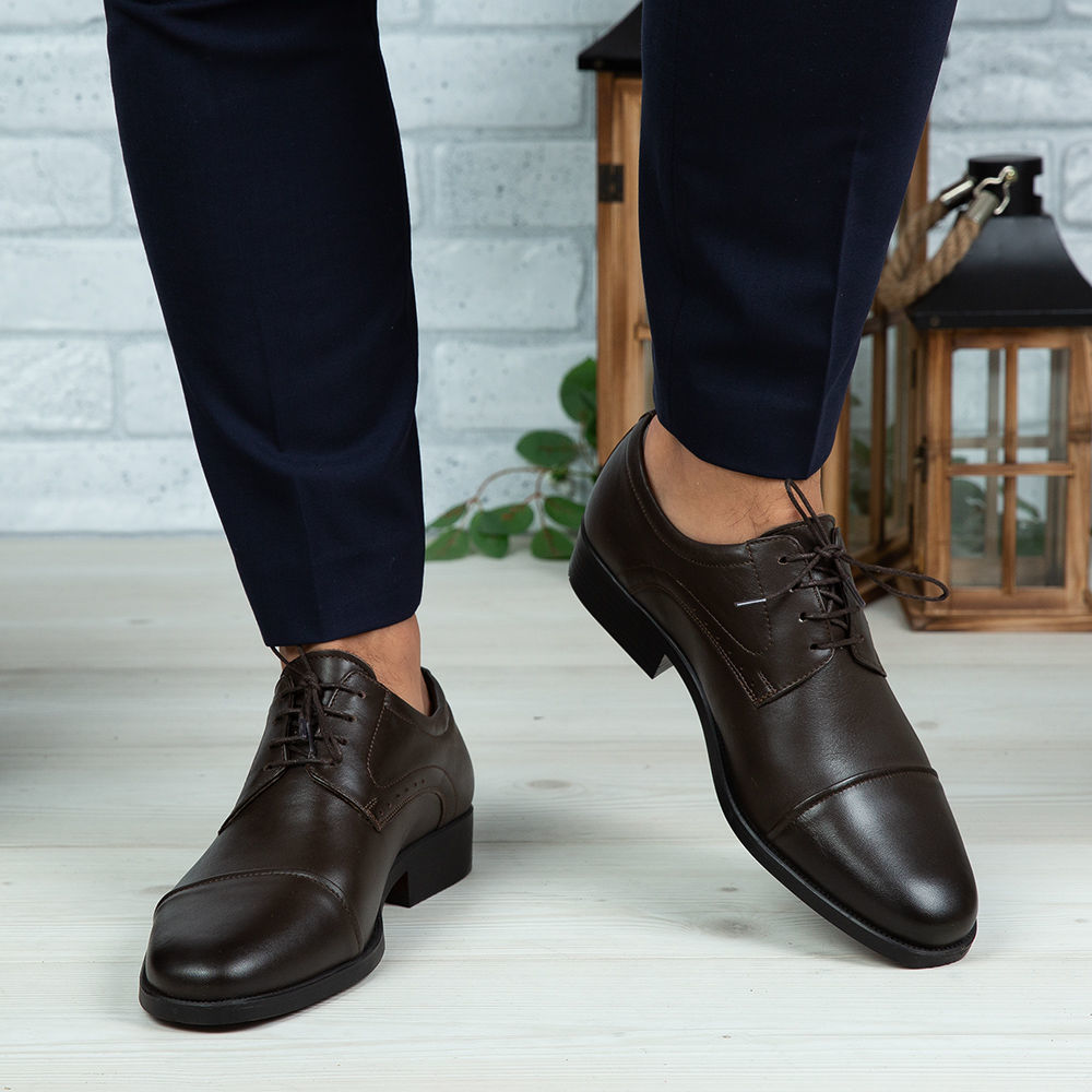 Imagine Pantofi eleganți bărbați din piele naturală 309 MI Maro