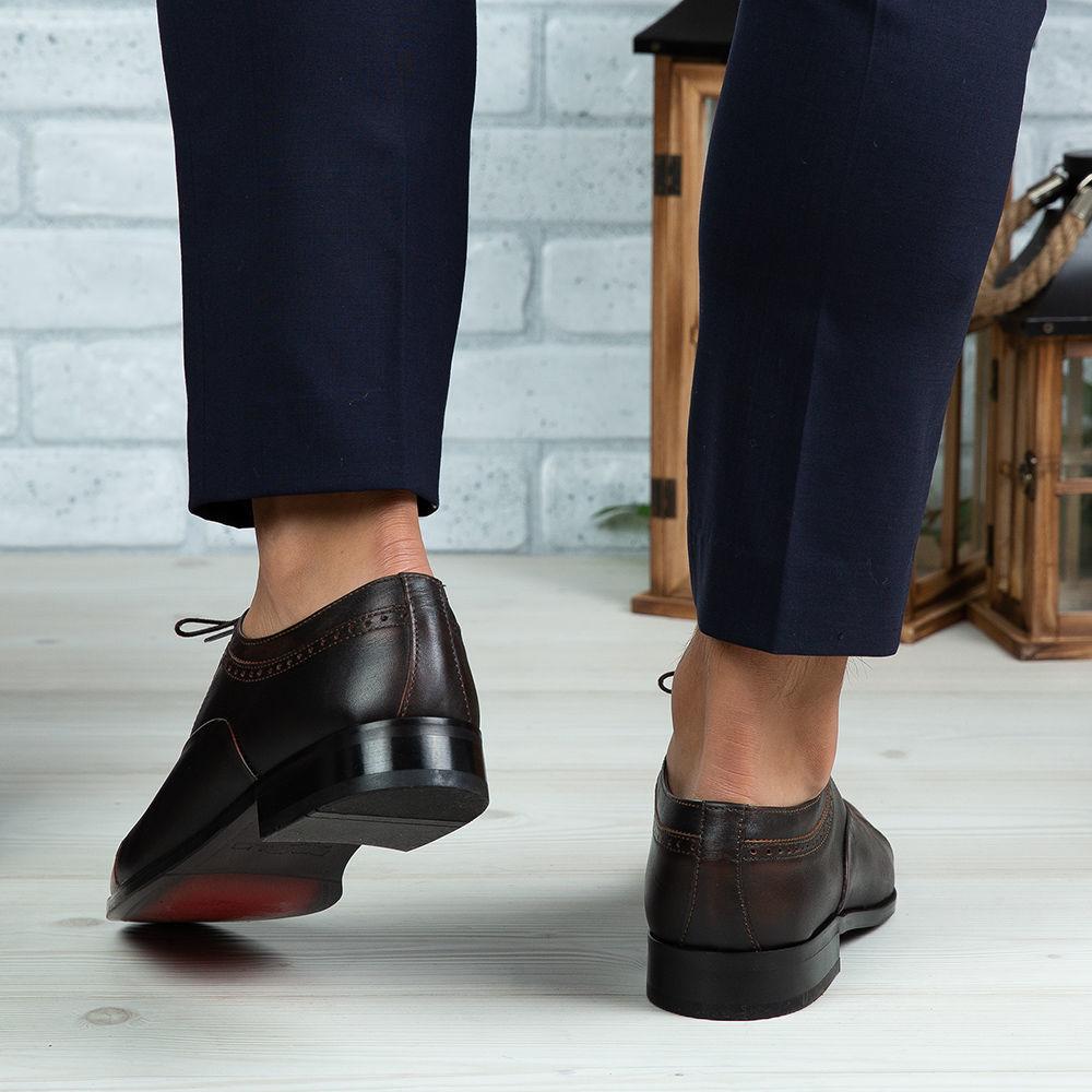 Imagine Pantofi eleganți bărbați din piele naturală 394 M Maro