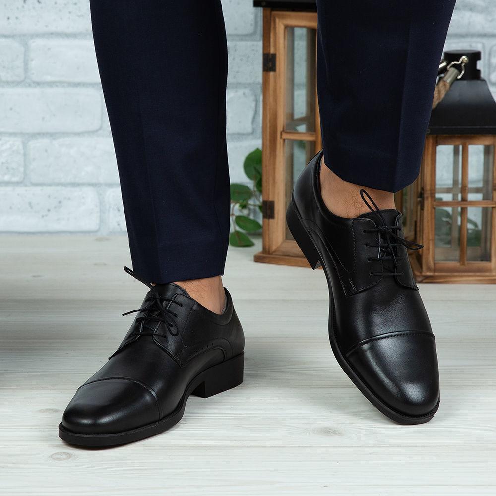 Imagine Pantofi eleganți bărbați din piele naturală 309 Negru