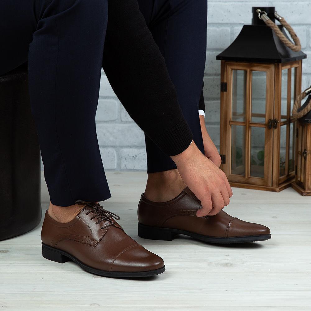 Imagine Pantofi eleganți bărbați din piele naturală 330 Maro