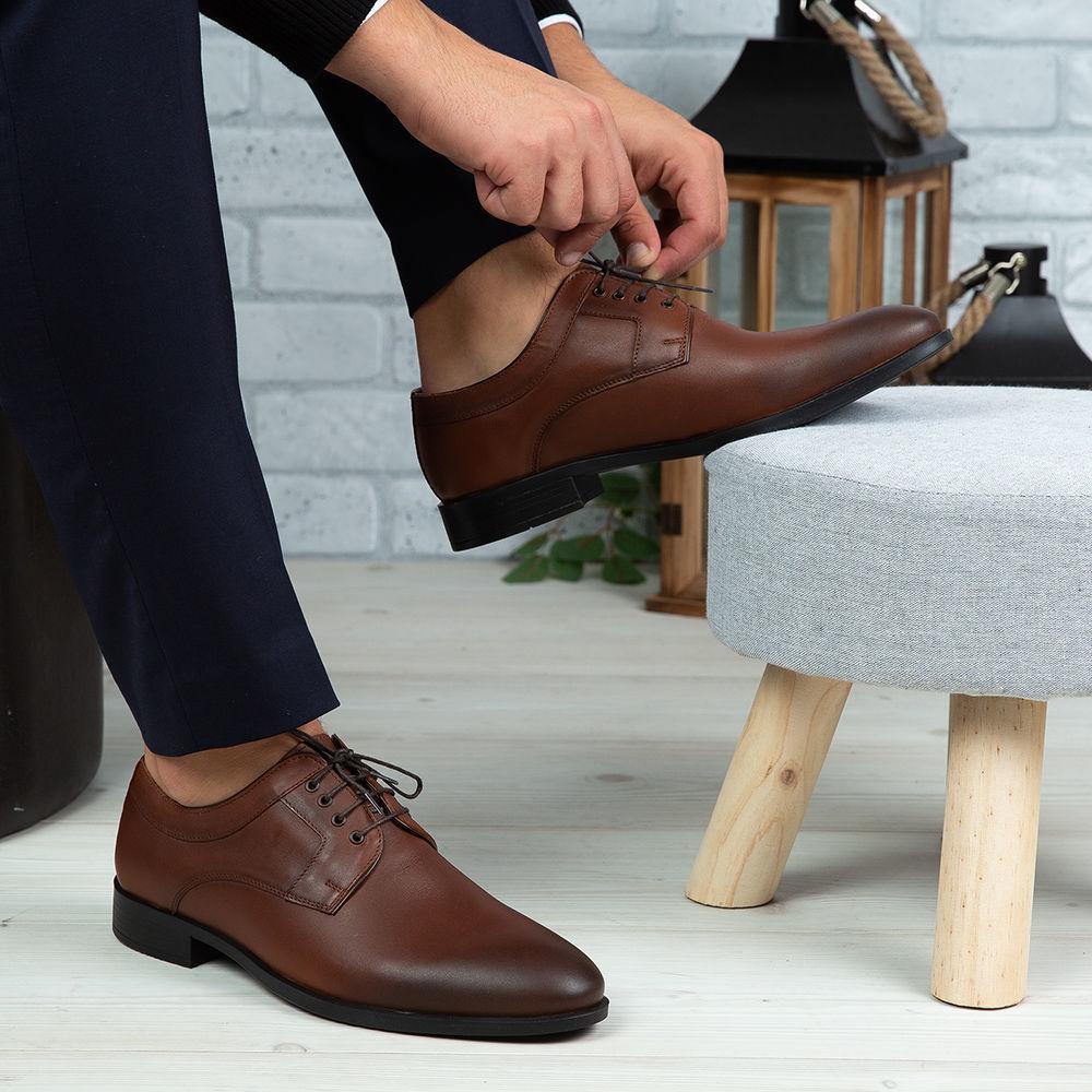 Imagine Pantofi eleganți bărbați din piele naturală 366 Maro