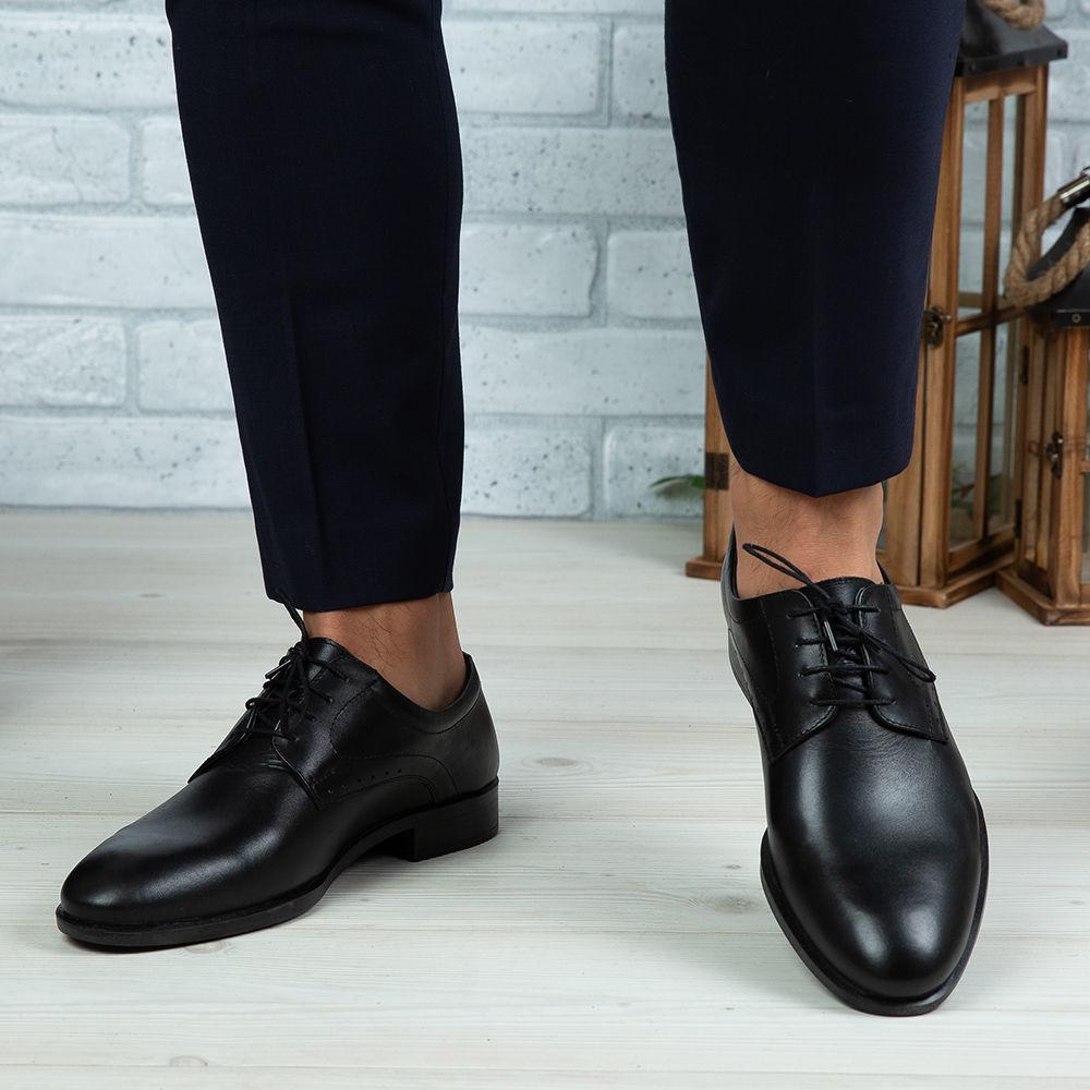 Imagine Pantofi eleganți bărbați din piele naturală 365 Negru