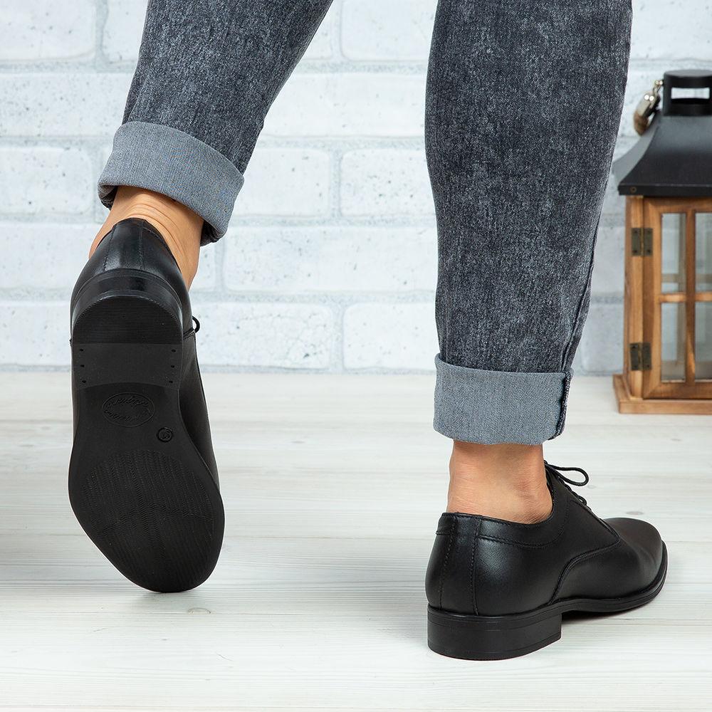 Imagine Pantofi copii din piele naturală 376 Negru