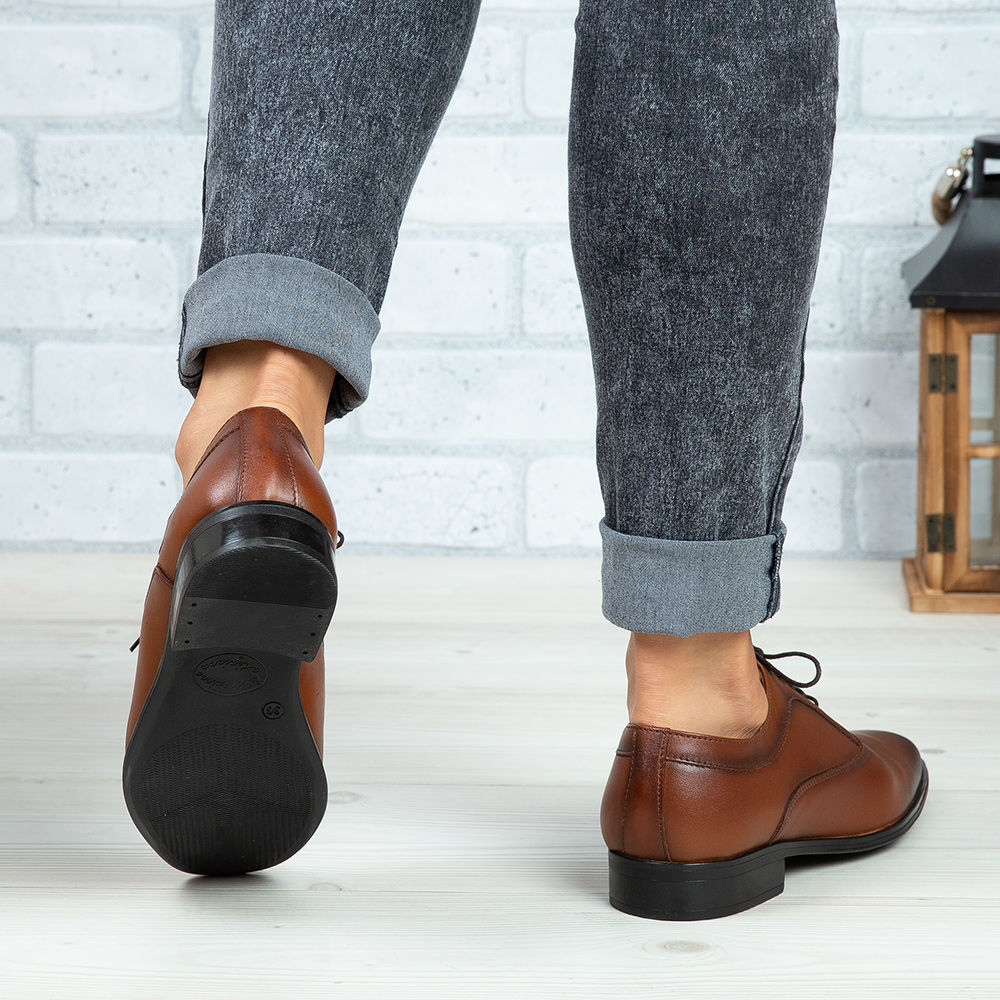 Imagine Pantofi copii din piele naturală 376 Maro