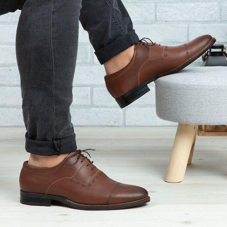 Imagine Pantofi casual bărbați piele naturală C65 Maro