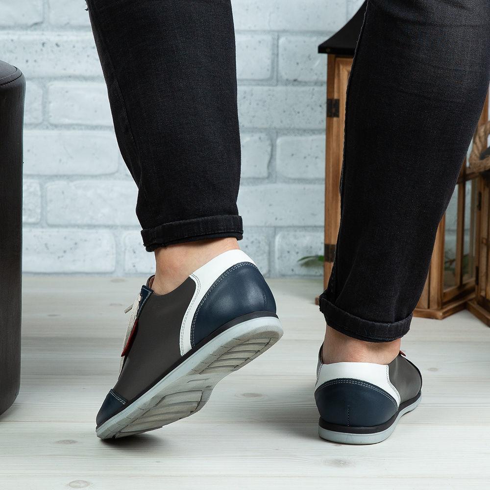 Imagine Pantofi sport bărbați piele naturală 430 Blue