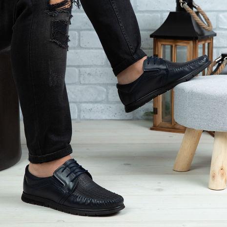 Imagine Pantofi casual bărbați piele naturală 540 Blue