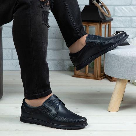 Imagine Pantofi casual bărbați piele naturală 540 S Blue