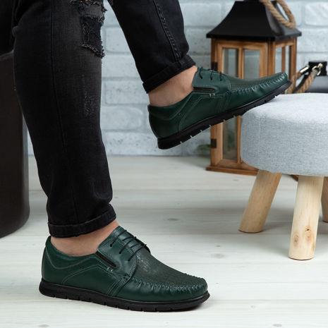 Imagine Pantofi casual bărbați piele naturală 540 Verde