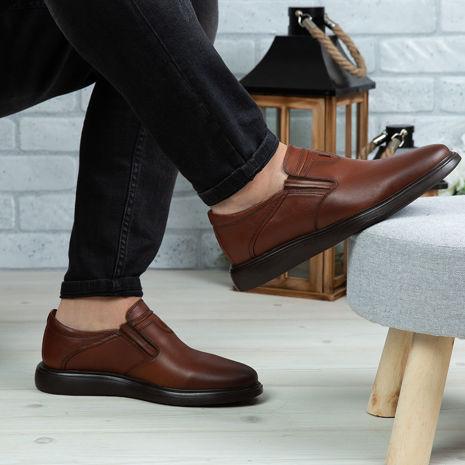 Imagine Pantofi casual bărbați piele naturală 551 Maro