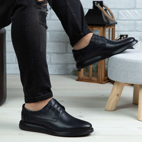 Imagine Pantofi casual bărbați piele naturală 558 Blue