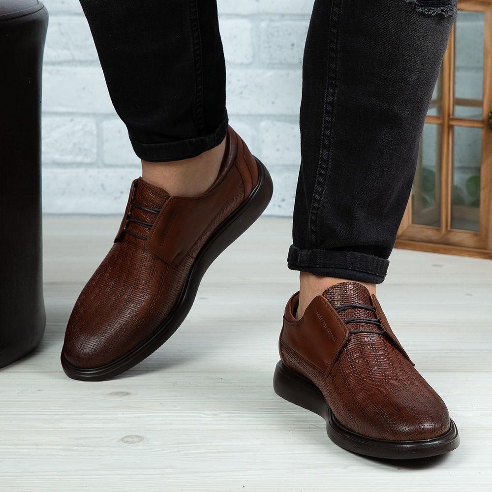 Imagine Pantofi casual bărbați piele naturală 558 P Maro