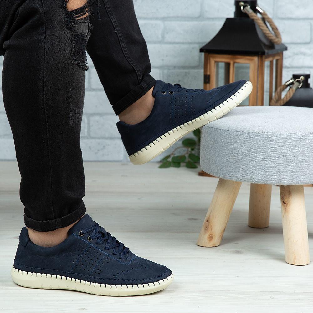 Imagine Pantofi casual bărbați piele naturală 693 Blue