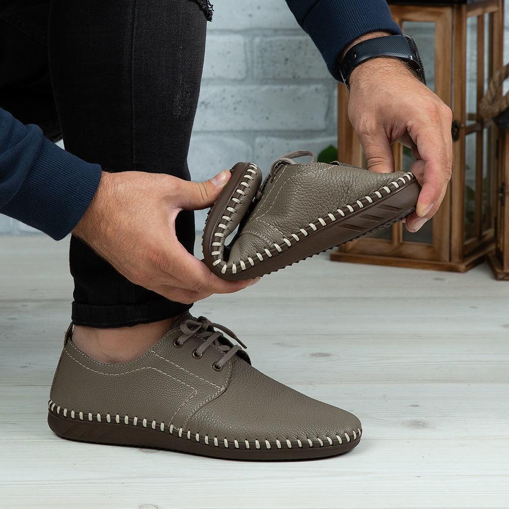 Imagine Pantofi casual bărbați piele naturală 650-S Bej