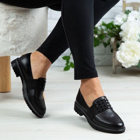 Imagine Pantofi damă piele naturală 150 Negru