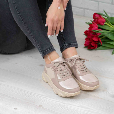 Imagine Pantofi damă piele naturală 122 Bej