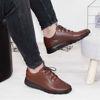 Imagine Pantofi sport bărbați piele naturală 447  Maro