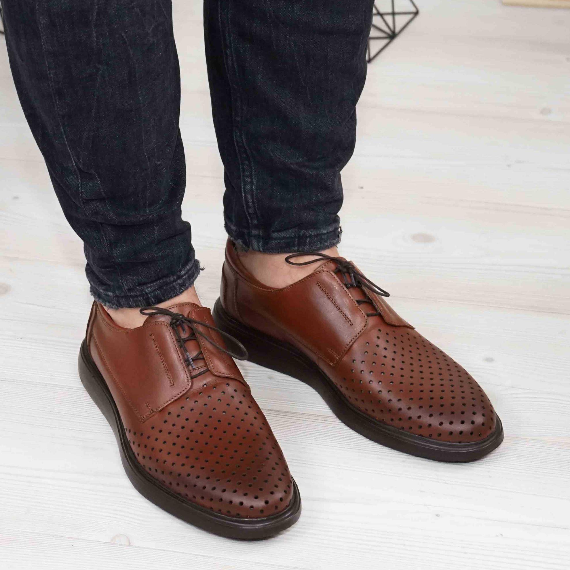 Imagine Pantofi casual bărbați piele naturală 558 g maro