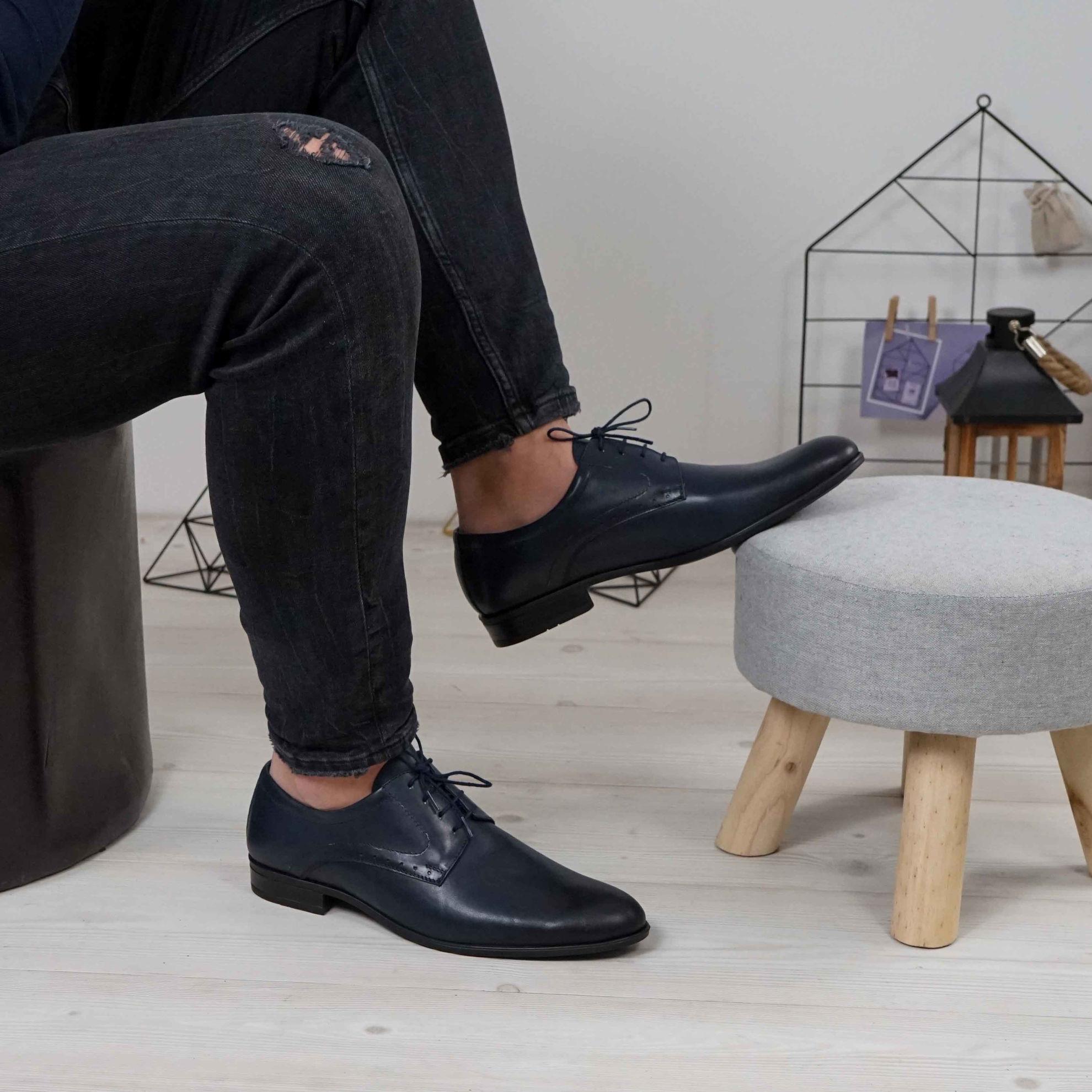 Imagine Pantofi eleganți bărbați din piele naturală 506 Negru box
